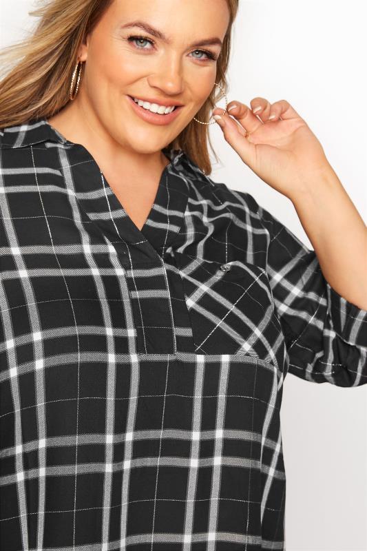 Black Check Print Overhead Shirt_D.jpg