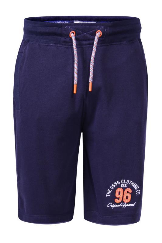 Men's  D555 Navy Elasticated Waist Shorts