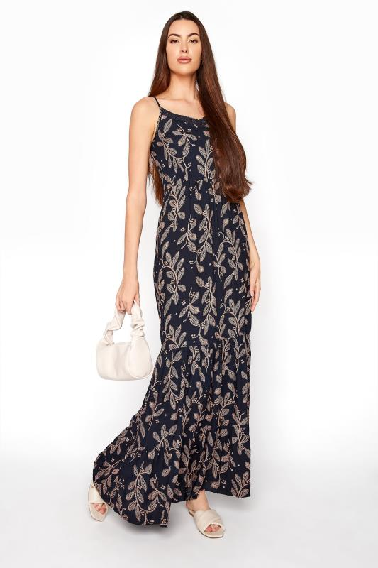 LTS Navy Lace Trim Cami Top Dress_B.jpg