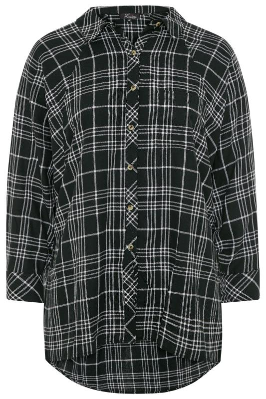 LIMITED COLLECTION Black Check Oversized Batwing Sleeve Shirt