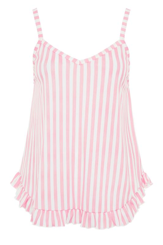 LIMITED COLLECTION Pink Stripe Frill Pyjama Top_f.jpg