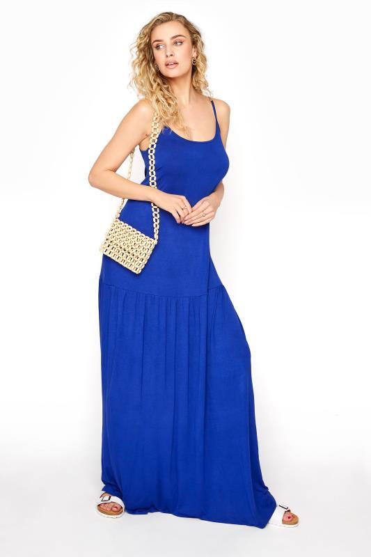LTS Cobalt Blue Strappy Drop Waist Maxi Dress_B.jpg