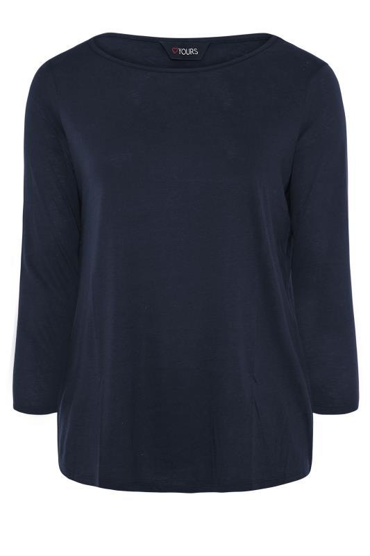 Navy Scoop Neck Long Sleeve T-Shirt_F.jpg