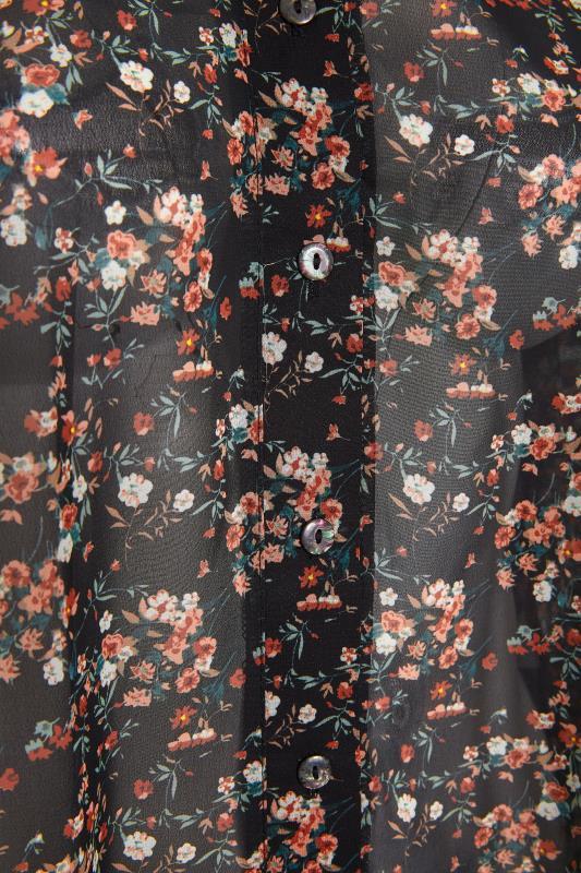 YOURS LONDON Black Floral Boyfriend Shirt_S.jpg