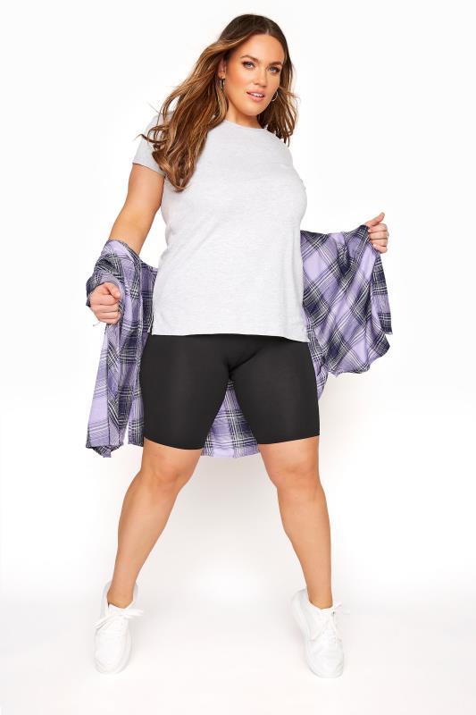 Black TUMMY CONTROL Soft Touch Legging Shorts_B.jpg