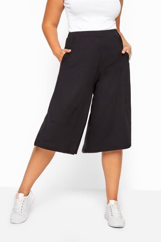 Culottes dla puszystych Black Jersey Culottes