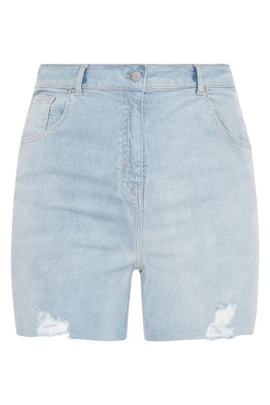 Light Blue Cut Off Distressed Denim Shorts_F.jpg