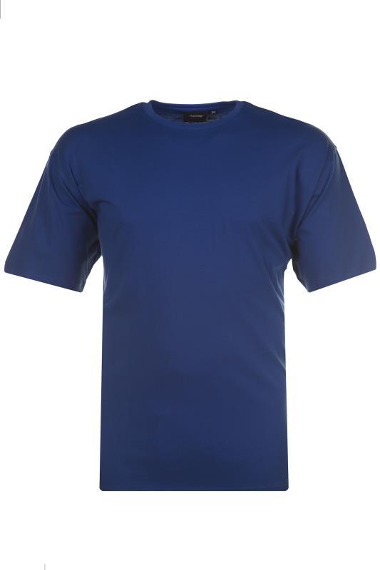 Plus Size  ESPIONAGE Royal Blue Basic T-Shirt