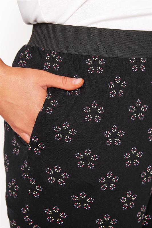 Black Daisy Geometric Crop Harem Trousers_D.jpg