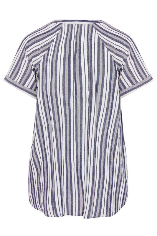 Blue Stripe Raglan Sleeve Shirt_BK.jpg