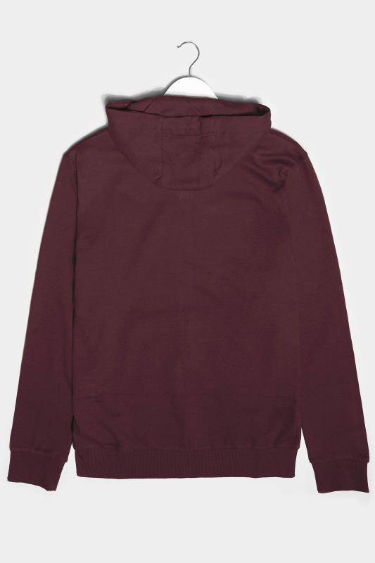 BadRhino Burgundy Performance Zip Through Hoodie