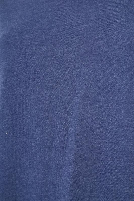 Denim Blue Marl V-Neck T-shirt_S.jpg