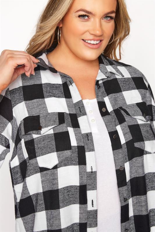 Black Check Cotton Boyfriend Maxi Shirt_D.jpg