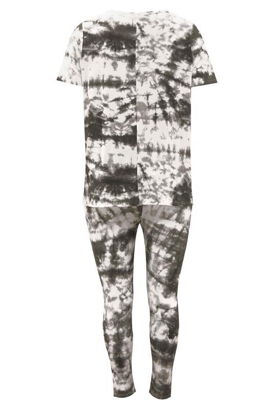 BUMP IT UP MATERNITY Black Tie Dye T-Shirt and Cropped Legging Set_BK.jpg