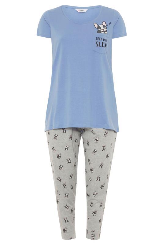 Pale Blue 'Need More Sleep' Slogan Pyjama Set_F.jpg