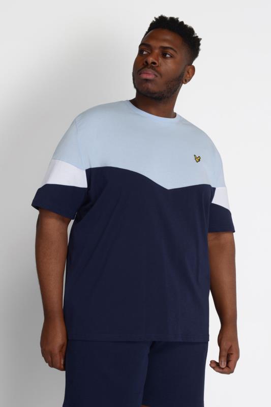 LYLE & SCOTT Blue Colour Block T-Shirt