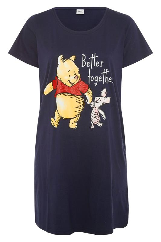 Plus Size  DISNEY Navy 'Better Together' Slogan Character Nightdress