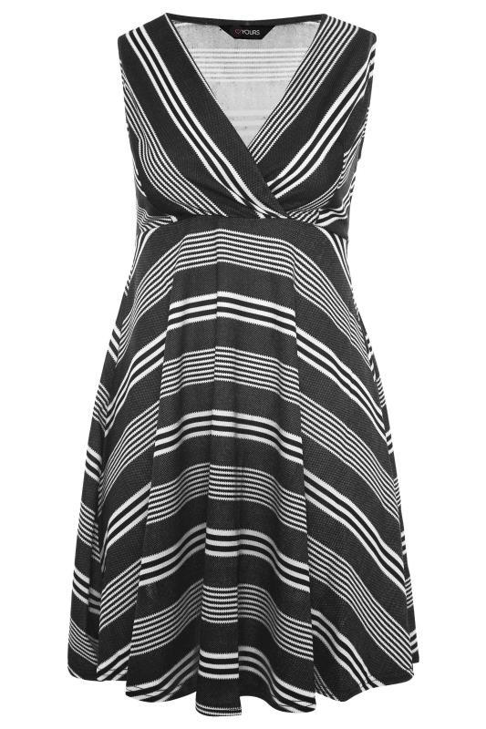 Black Stripe Wrap Skater Dress_F.jpg