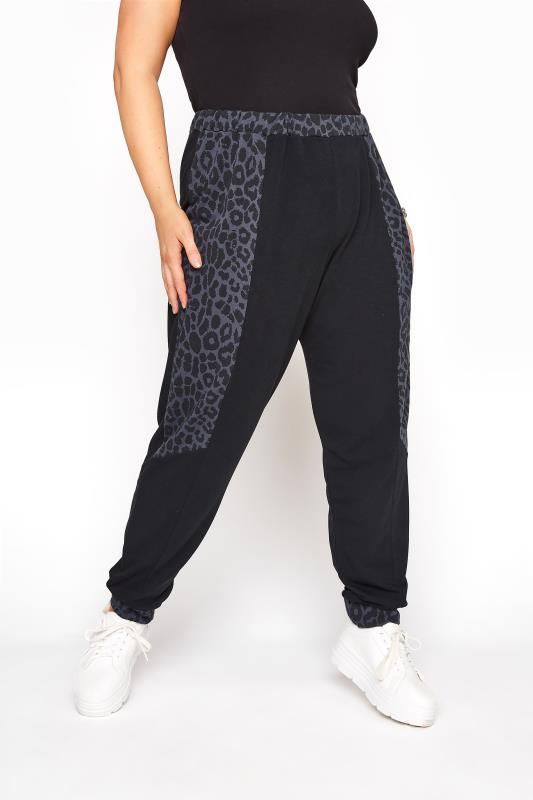 LIMITED COLLECTION Grey Leopard Colour Block Lounge Joggers