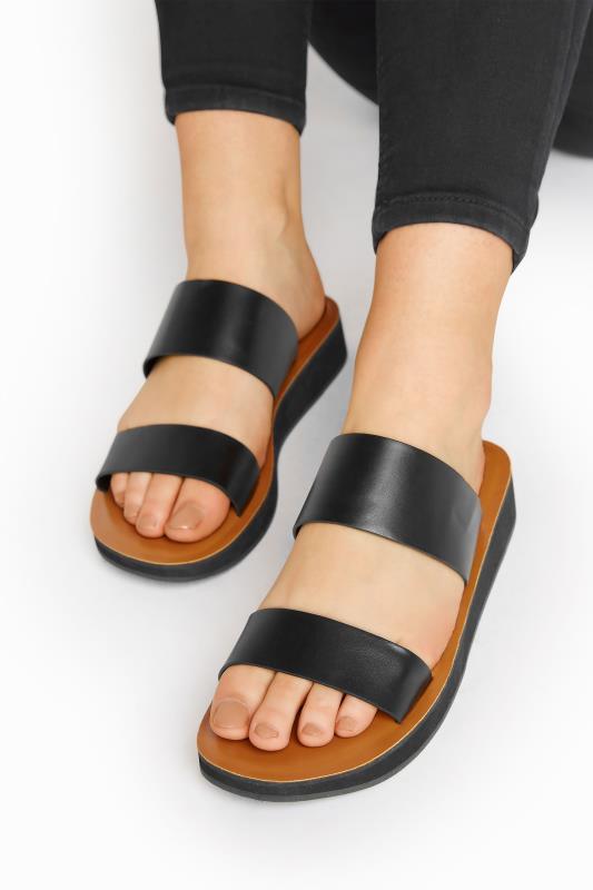 LTS Black Two Strap Flat Sandals_M.jpg