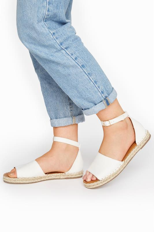 Tall  LTS Off-White Open Toe Espadrille