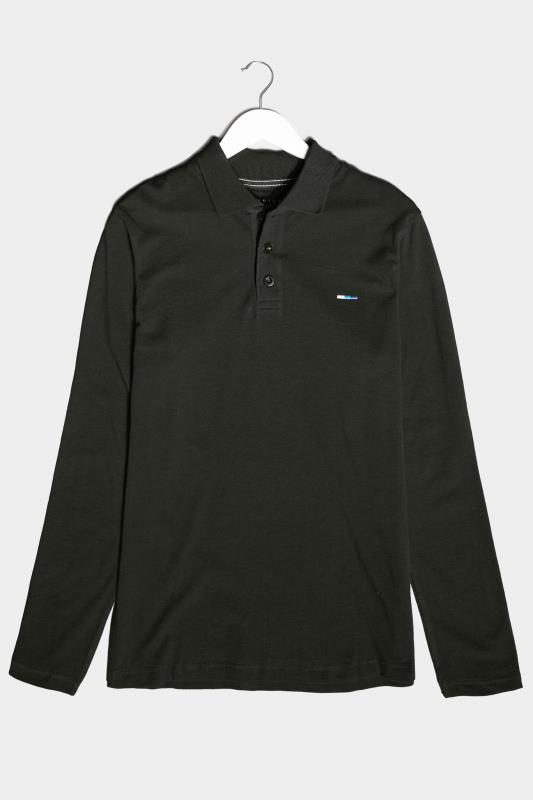 Men's  BadRhino Black Essential Long Sleeve Polo Shirt