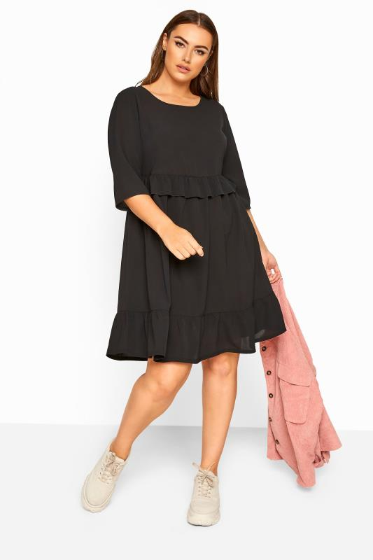 LIMITED COLLECTION Black Frill Smock Dress