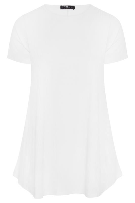 LIMITED COLLECTION White Ribbed Swing T-Shirt_F.jpg