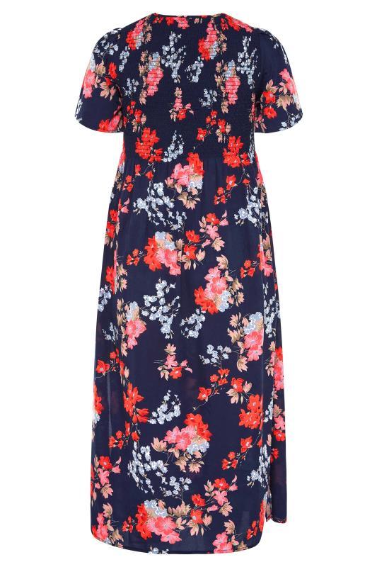 Blue Floral Shirred Maxi Dress_BK.jpg
