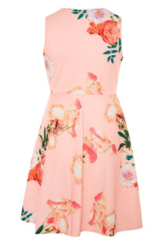 Pink Floral Wrap Skater Midi Dress_BK.jpg