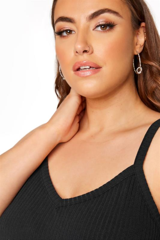 LIMITED COLLECTION Black Rib Swing Cami Top_D.jpg