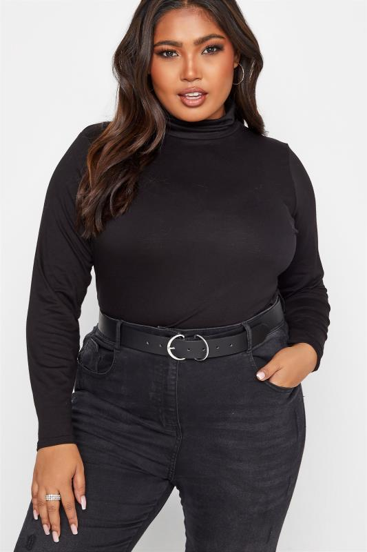 Plus Size  Black Double Buckle Belt