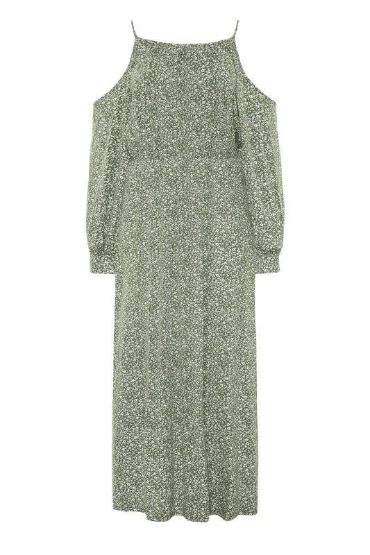 Green Floral Cold Shoulder Maxi Dress_F.jpg