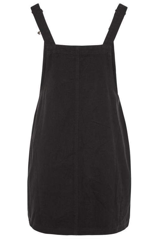 LIMITED COLLECTION Black Button Front Pinafore Dress_BK.jpg