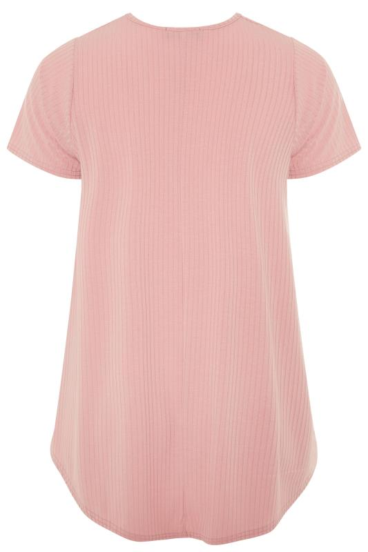 LIMITED COLLECTION Blush Pink Ribbed Swing T-Shirt