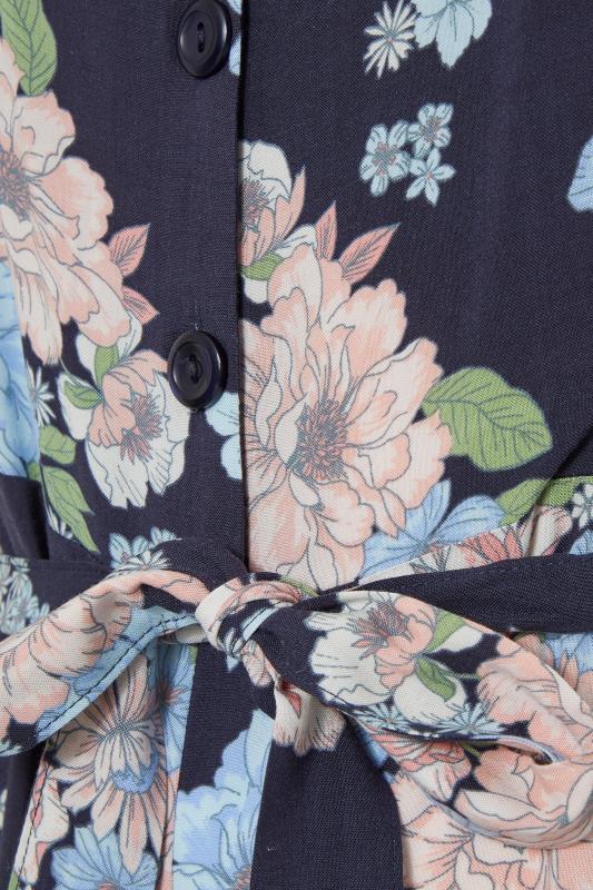YOURS LONDON Navy Floral Button Crop Jumpsuit_s.jpg