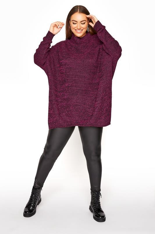 Plum Oversized Knitted Jumper_B.jpg