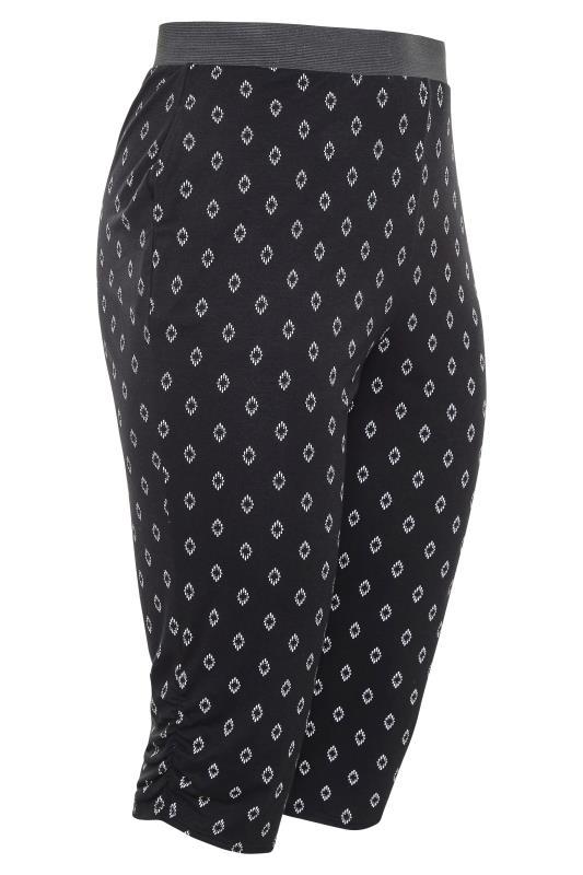 Black Diamond Print Cropped Harem Trousers_C.jpg