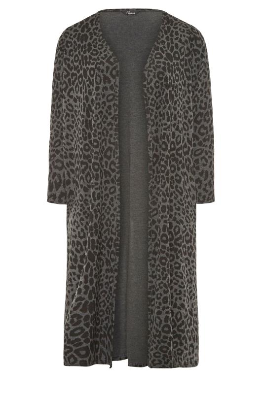 LIMITED COLLECTION Charcoal Black Leopard Print Cardigan_F.jpg