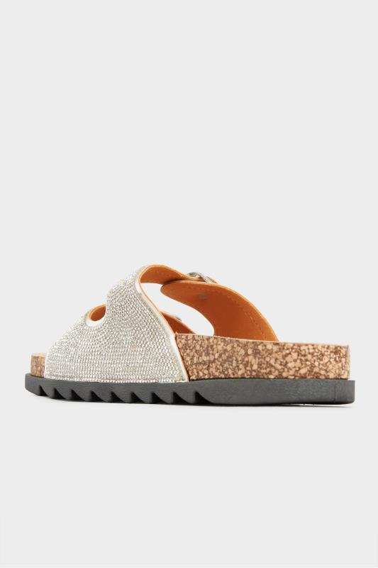 Silver Sparkle Footbed Sandal In Wide Fit_D.jpg