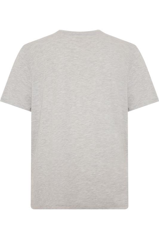 JACK & JONES Grey Marl Logo Crew Neck T-Shirt_BK.jpg