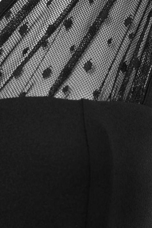 YOURS LONDON Black Mesh Sweetheart Bodysuit_S.jpg