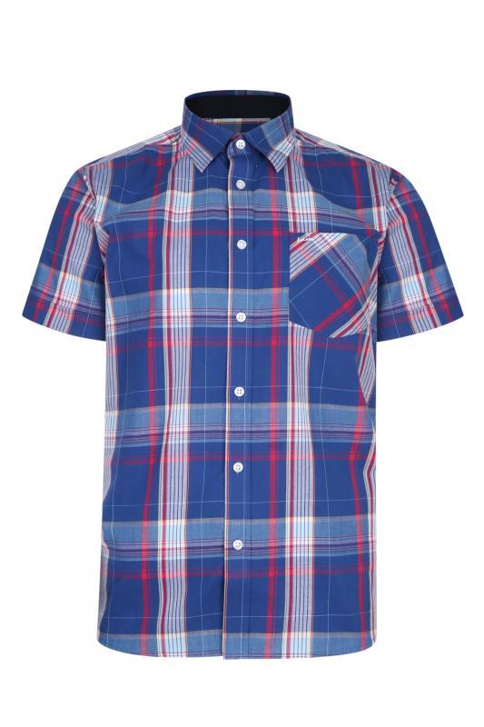 Men's  KAM Blue Casual Check Shirt