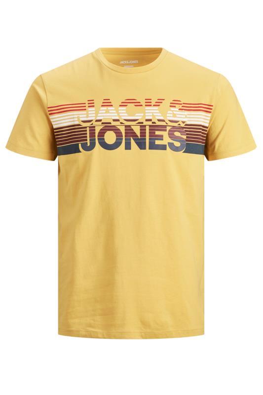JACK & JONES Yellow Meta Logo T-Shirt