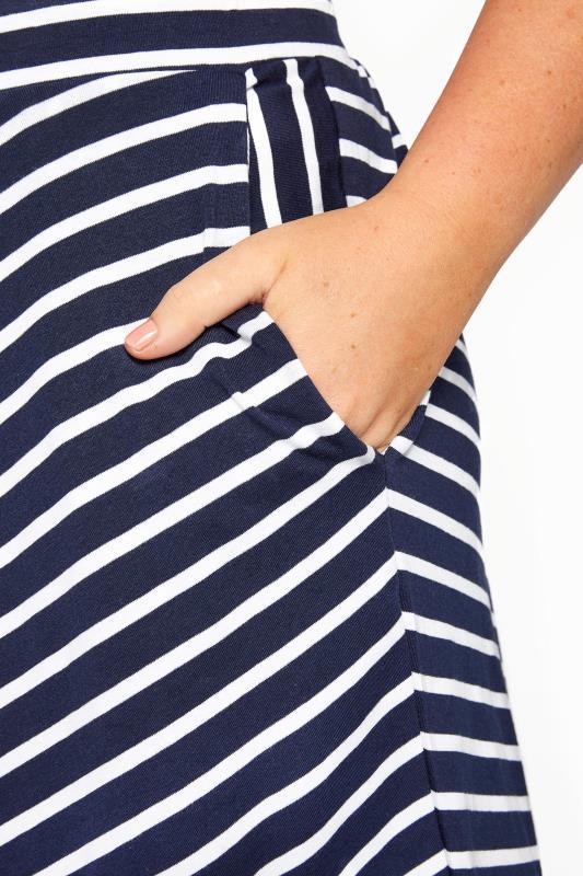Navy Chevron Maxi Skirt