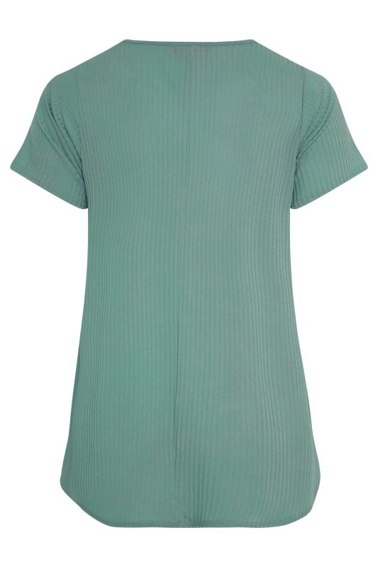 LIMITED COLLECTION Forest Green Rib Swing Top_BK.jpg