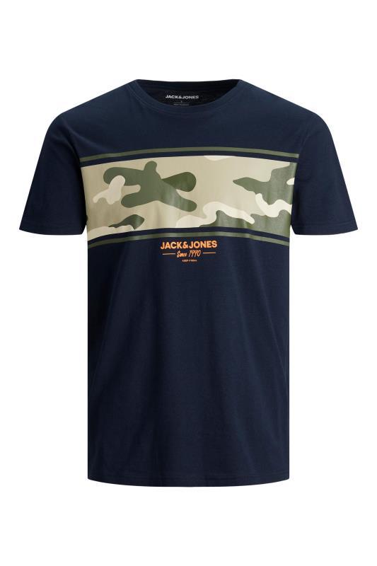 Men's  JACK & JONES Navy Camo T-Shirt