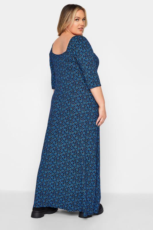 LIMITED COLLECTION Cobalt Blue Ditsy Maxi Dress_C.jpg