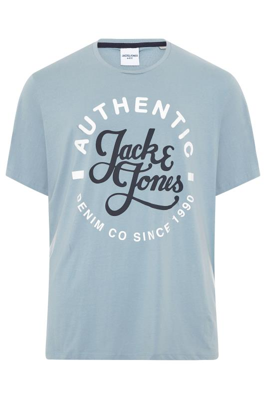 dla puszystych JACK & JONES Denim Blue Moon Logo T-Shirt