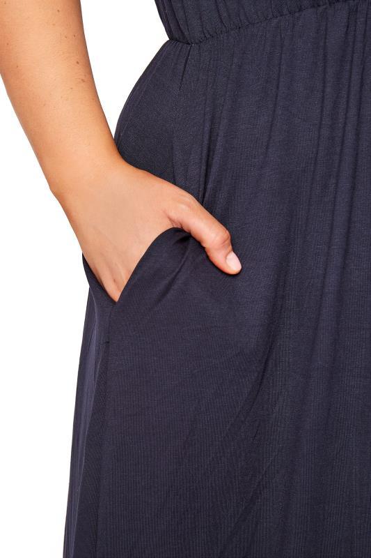 YOURS LONDON Navy Pocket Maxi Dress_D.jpg